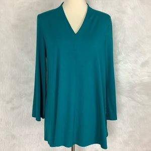 Eileen Fisher Teal Green Long Sleeve Tunic